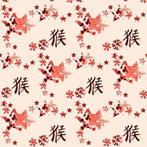 Chinese Balls and Stars Falling - Pink