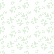 cucumber paw prints on white