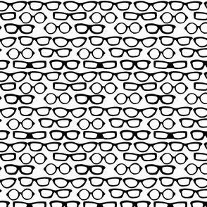 glasses // black and white spectacles vintage inspired glasses print