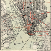 Early 1900's New York City Subway Map