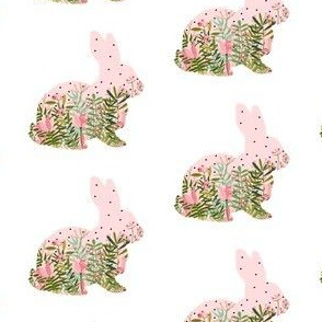 Fancy Pink Floral Bunny