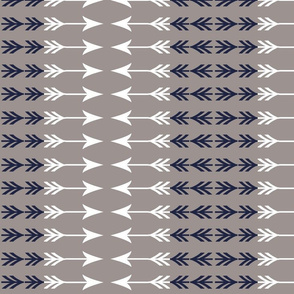Navy and White arrow stripe