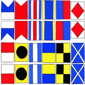 Nautical Flags A-M