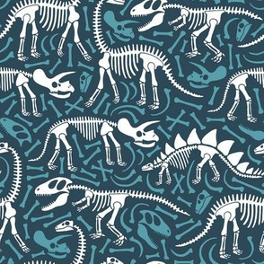 Dinosaurs and bones (blue)