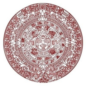 Red Aztec Calendar Swatch