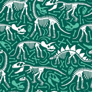 Dinosaurs and bones (green)