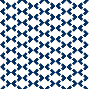 Square Chevron nested two frequency white - navy