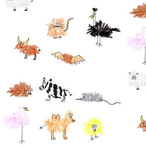 Crayon characters