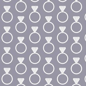 Diamond Ring Lilac Gray