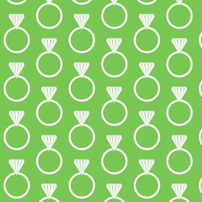 Diamond Ring Green Flash