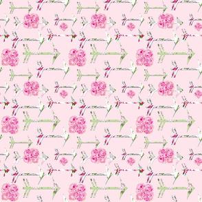 Shabby Chic Roses Arrows bright