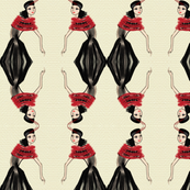 Fashion Illustration-Lady in red