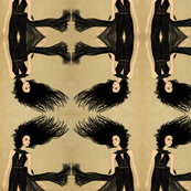 Fashion Illustration-Lady in black