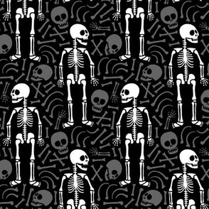 Skeletons and bones (black)