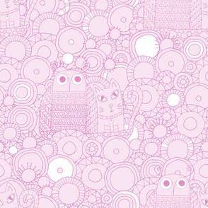 Owl & Pussycat Soft Pastels 4-in-1 yard sampler