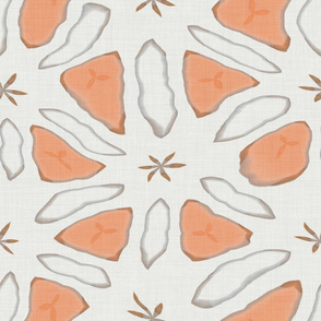 Abstract Peach and White