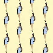 Fashion Illustration-Lady in blue