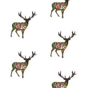 Floral Deer Standing