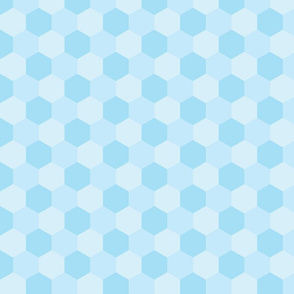 pastel blue hexagons