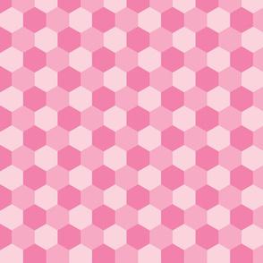 pastel pink hexagons
