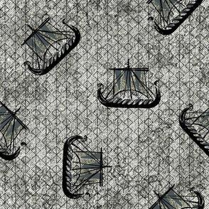 Viking Ships grey