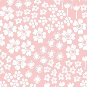 flowers // rosequartz pastel pink rose pink girls flowers floral spring sweet little girls garden print