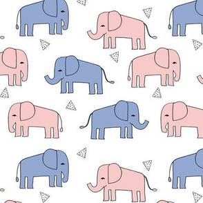 elephant // 2016 pantone rosequartz serenity kids nursery pastel blue pink and blue sweet little nursery elephants