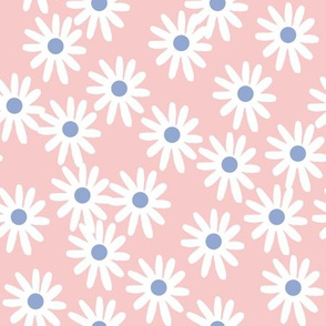 Daisies // floral pantone rose quartz and serenity blue