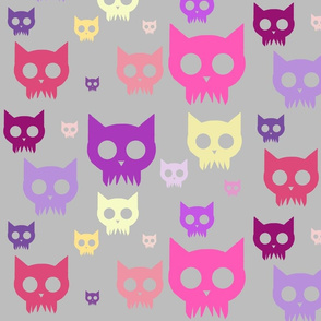 Cat Skulls - Pink Variant