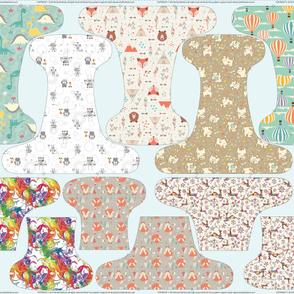 Petite Fitted Cloth Diaper 56 inch
