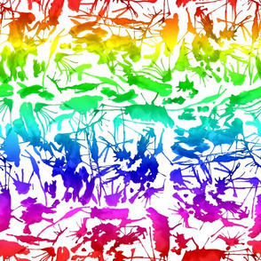 Rainbow Ink Splatter III.
