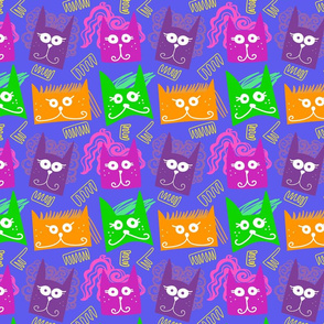 80's cat crowd