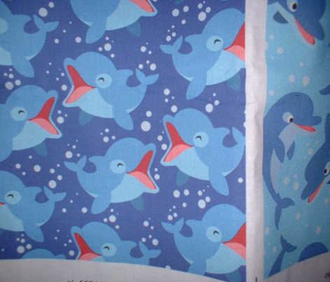 Laughing Little Dolphins Dark Blue by Cheerful Madness!!