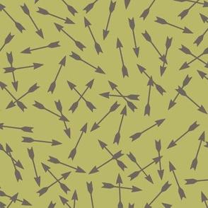 Copper Arrows on Moss