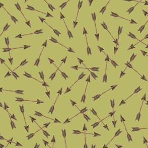 Arrows Copper on Green