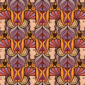Janus in purple and orange