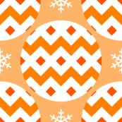 R4X bauble : orange peach