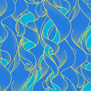 Curly and Wave: Blue & Yellow