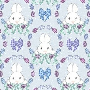 Bunnies in blue