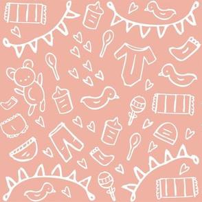 Nursery Doodles Pink