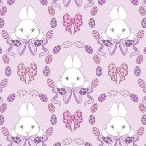 Easter Bunnies in purple