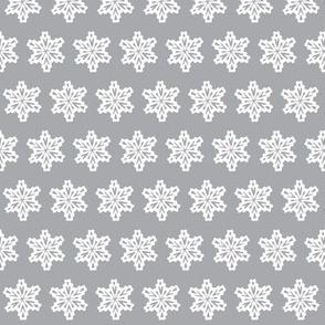Snowflakes in a grey Portland sky