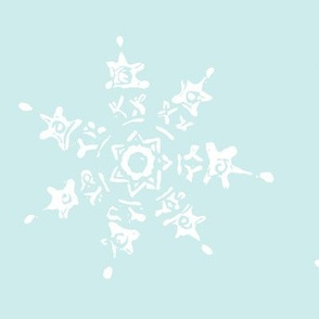 snowflake-pale blue