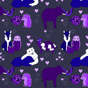 Love sweet love in purple