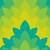 leafy zigzag : botanical
