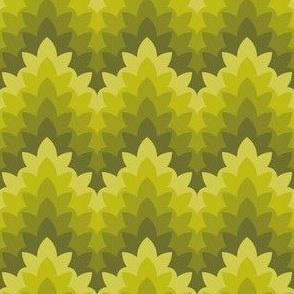 leafy zigzag : dim sum green