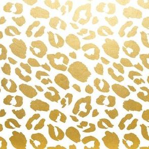 Gold leopard print