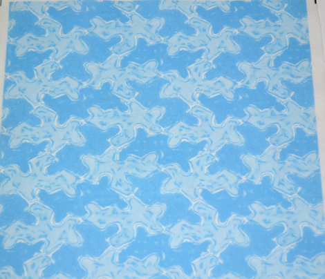 Foggy Blue Jigsaw Puzzle Pieces