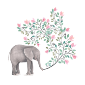 Pink Branch Elephant - Large