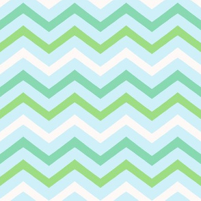 Chevron in blue and green